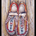#1351 Moccasins  (11″ X 14″ Print Also Available For $125.00)