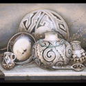 #1333 Two Pots, Two Bowls, Pitcher & Ladle Limited-Edition Giclee (Unframed Canvas On Masonite) (Edition Size: 50)