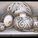 #1333 Two Pots, Two Bowls, Pitcher & Ladle Limited-Edition Giclee  (Edition Size: 50)