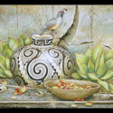#1377 Gambel's Quail on Pot w/Basket & Cactus Fruit Limited-Edition Giclee (Edition Size: 50)
