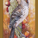 #1369 Roadrunner w/Prickly Pear Cactus Limited-Edition Giclee (Unframed Canvas On Masonite) (Edition Size: 50)