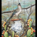 #1585 Roadrunner on Pot w/Prickly Pear Cactus