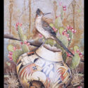 #1601 Roadrunner on Pot w/Prickly Pear Cactus